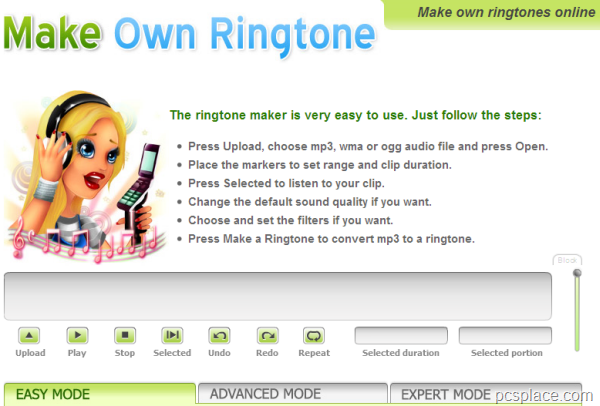 make own ringtone for mobile phones