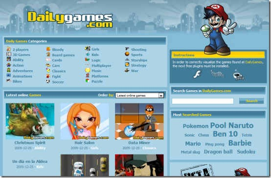 free daily on line games