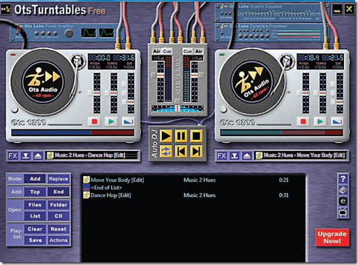 OtsTurntables - free dj software