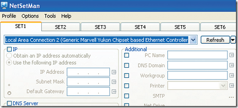 install and run the program for the first time, you will need to select the specific network adapter