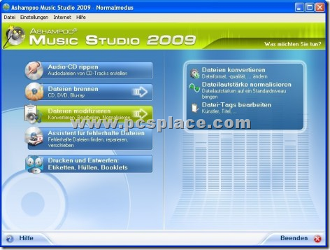 Ashampoo MP3 AudioCenter 1.70 screen shot.
