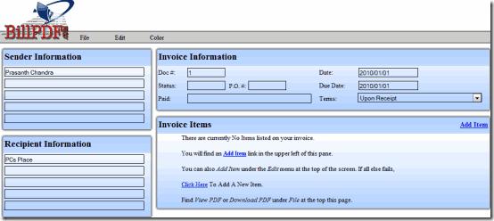 BillPDF Free Online Invoice Generator Create PDF Invoices PCs - Free online invoice generator