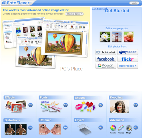 fotoflexer - online photo editor