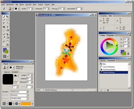 Art weaver free paint drawing software with different for Program like paint for mac