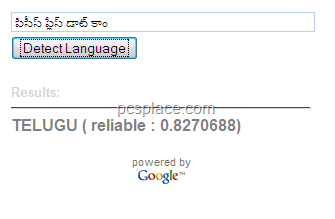 google language detection tool