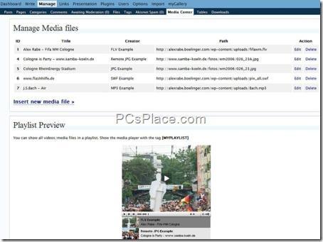 insert media files into blog posts