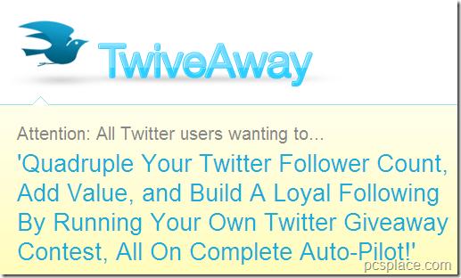 twiveaway