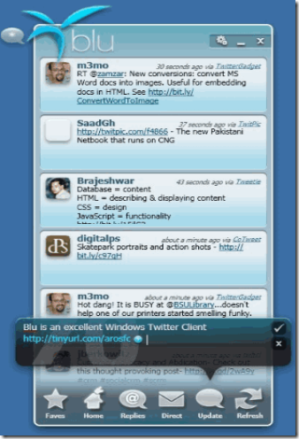 Blu – Best Desktop Twitter Client / App For Vista / Windows 7 OS