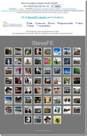 scout - check rankings of photos in Flickr Explorer