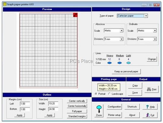 graph paper printer