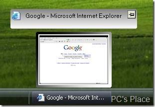 visual tool tip - thumbnail preview of programs
