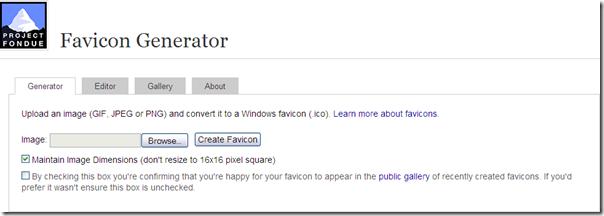 favicon generator- create your own favicon
