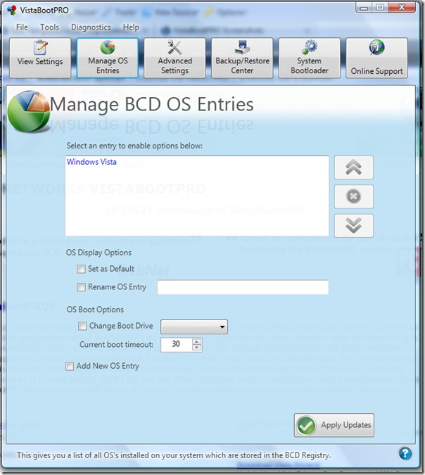 Vista Boot Pro - Manage-BCD-Entries