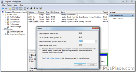 hide hard drisk partition