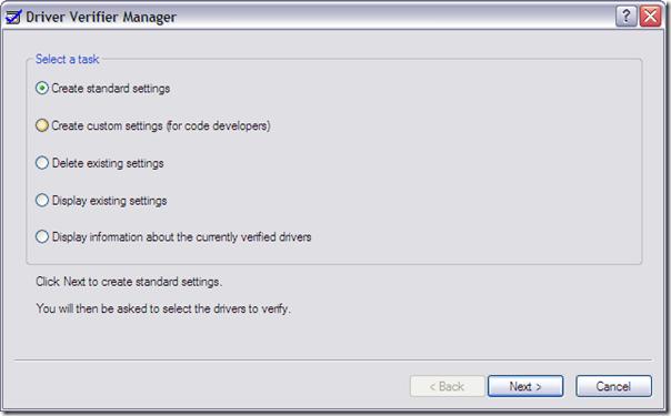 driver verifier for windows xp