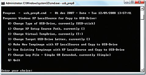 USB prep utility