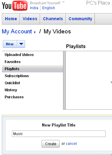 create video playlists of youtube videos