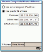 enter the ip address in pda