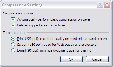 image compression in office 2007