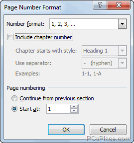 page number in word documents