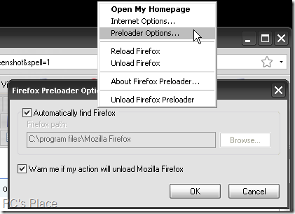 firefox preloader options
