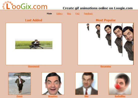 loogix - Create GIF Animated Avatars Online from Your Photos