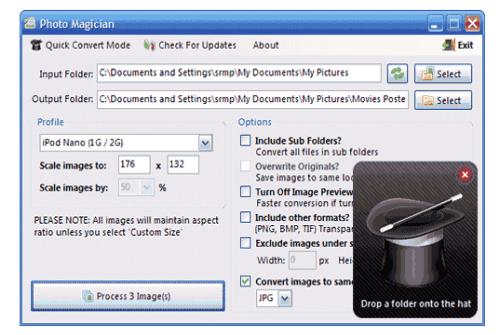 Photo Magician – Convert and Resize Photos /Images In Batches
