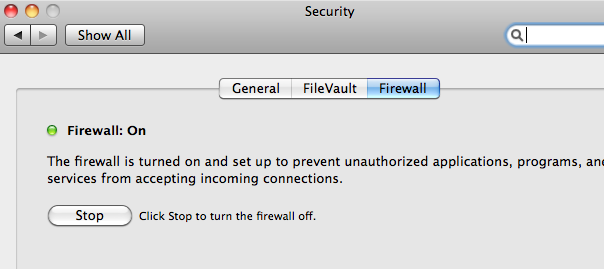 enable firewall on mac