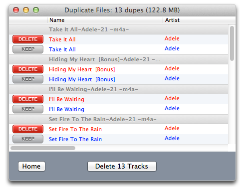 Delete Duplicate Songs From iTunes On Mac dupeaway