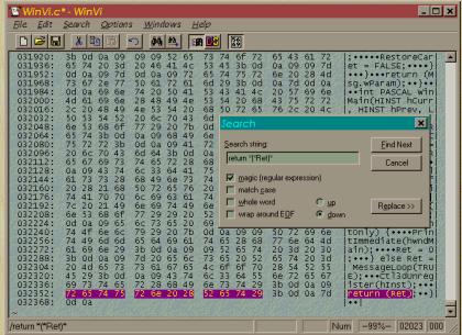WinVi - Free Alternative To Vi Editor For Windows