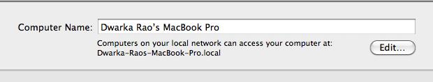 Mac OS X Tip - Change Computer Name On Mac OS X 2