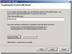 switch between windows and firefox profiles-create profile