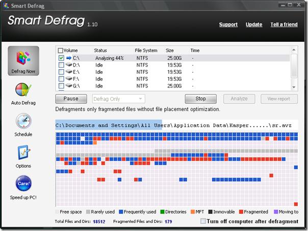 smart defrag - The best free disk defragment utility