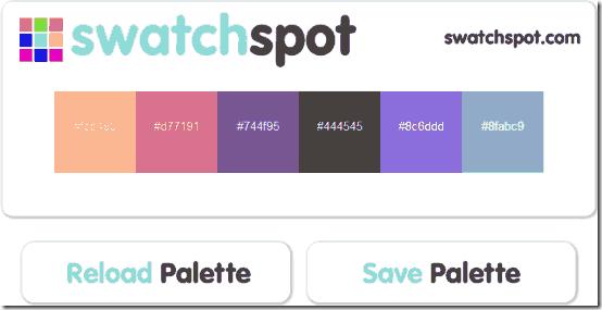 swatch spot - random color swatch generator