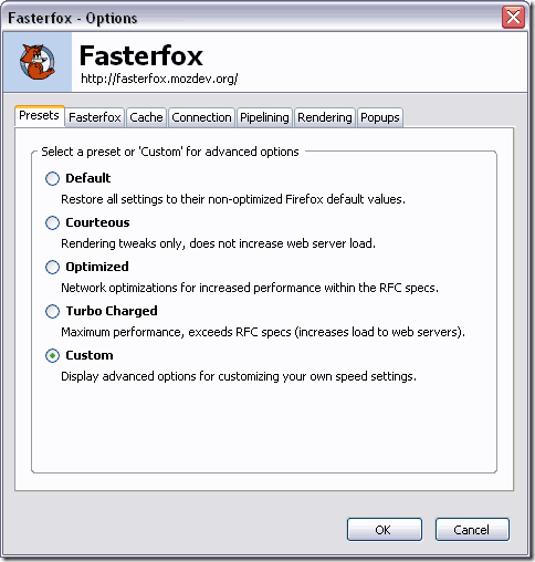 Fasterfox - Speed up Mozilla Firefox Internet Surfing