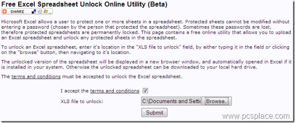 Free excel spreadsheet Unlock Utility