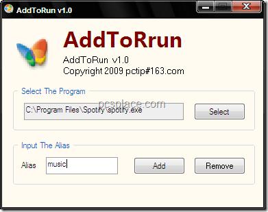 add to run - create own run command shortcuts