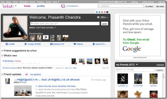 new orkut invitation