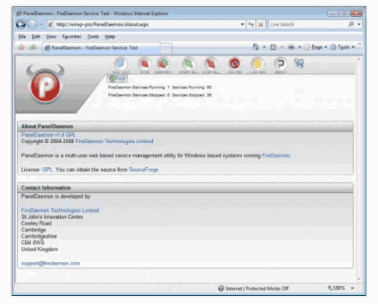 PanelDaemon – Manage, Start, Stop Windows Services With A Web Browser or Mobile Device