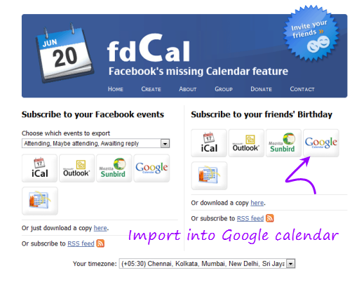 Birthday Calendar In Outlook : Import facebook birthdays and events to google calander