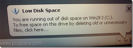 annoying low disk space warning