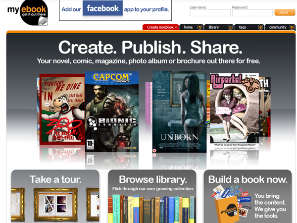 my ebook - create, publish and share content online