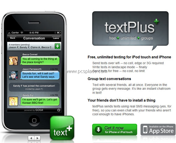 text plus - send unlimited free message for iphone
