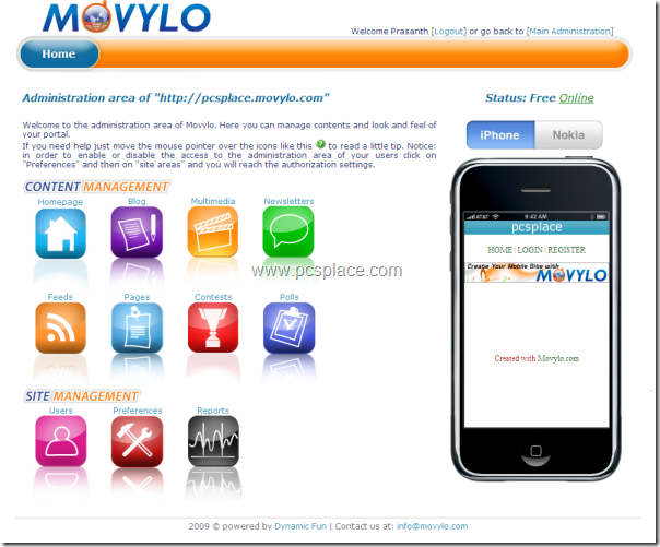mobile sites